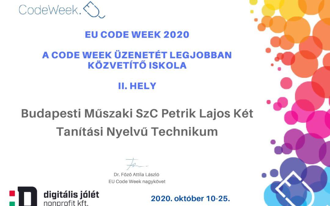 #petrikcodeweek2020 – újra siker a Kódolás Hetén
