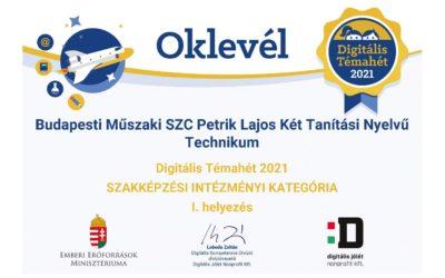 DTH 2021 eredményhirdetés: nyertes a Petrik