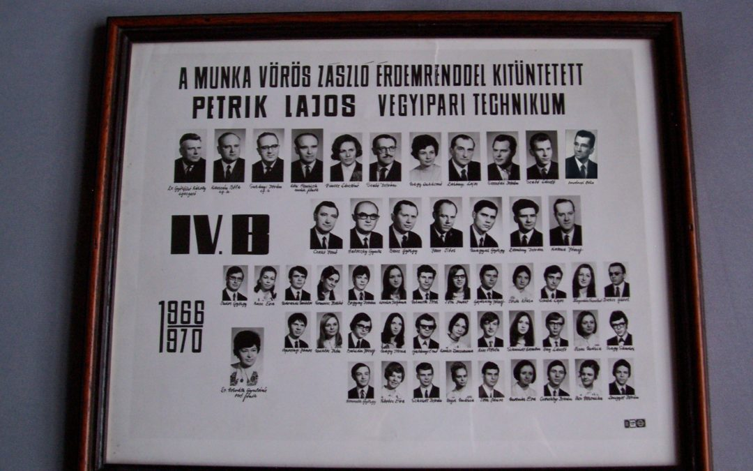 1970-ben érettségizett IV B. osztály 50 éves érettségi találkozó